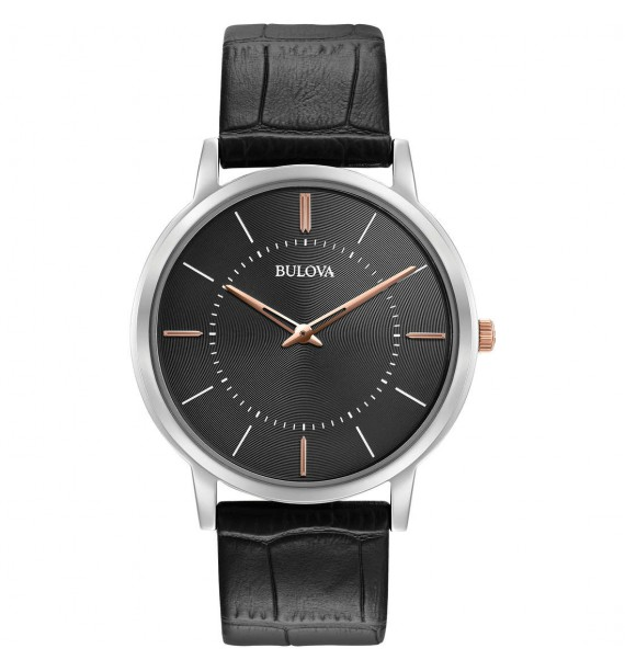 BULOVA - Orologio cronografo in acciaio e pelle fondo verde - Sutton