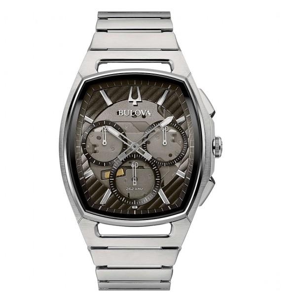 BULOVA - Orologio cronografo in acciaio fondo a vista - Curv
