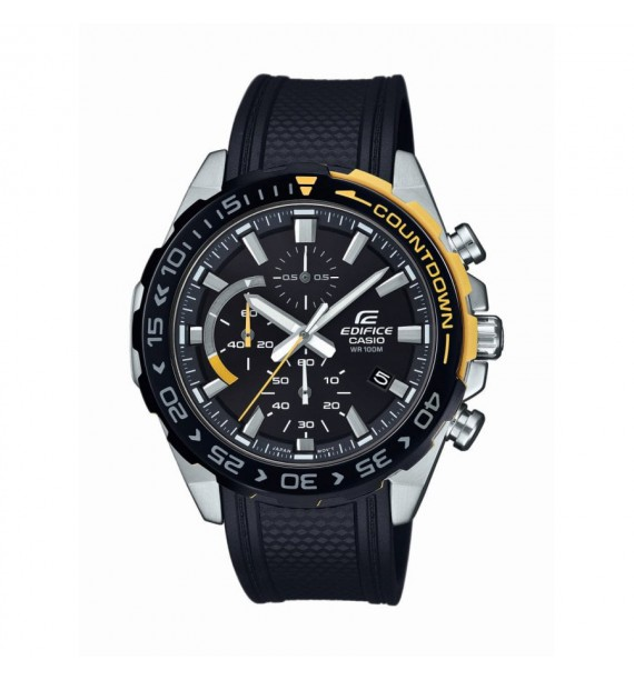 CASIO Edifice orologio Chrono in acciaio e resina fondo nero - Classic Collection