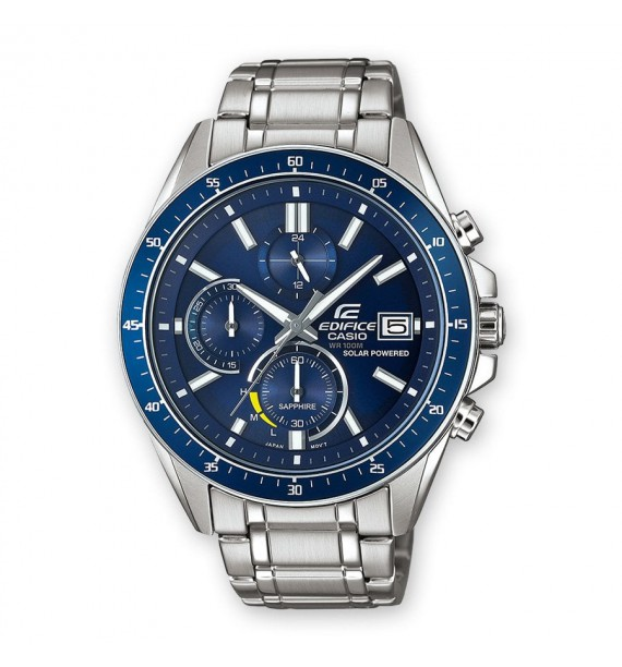 CASIO Edifice orologio Chrono in acciaio fondo blu - Premium Collection