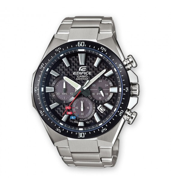 CASIO Edifice orologio Chrono in acciaio fondo nero - Premium Collection