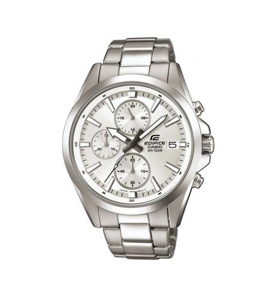 CASIO Edifice orologio Chrono in acciaio fondo silver - Classic Collection