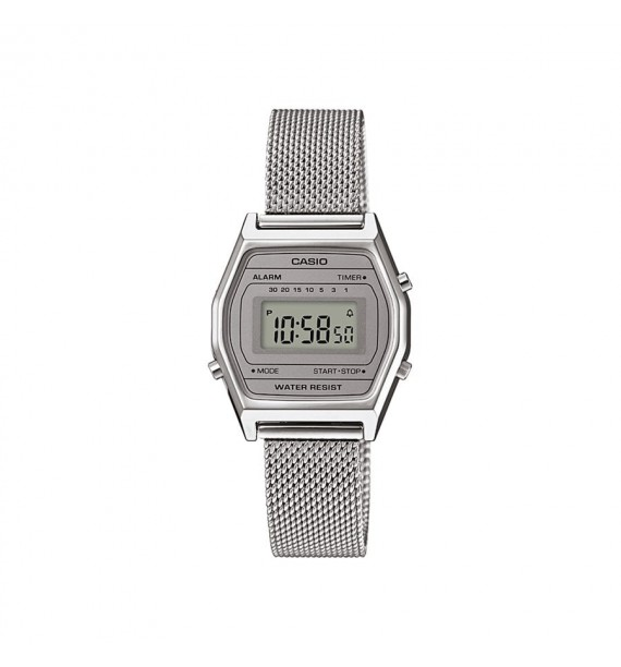 CASIO Vintage orologio in acciaio e resina fondo grigio - Mini