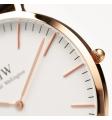 DANIEL WELLINGTON orologio in acciaio e stoffa fondo bianco - Classic Oxford