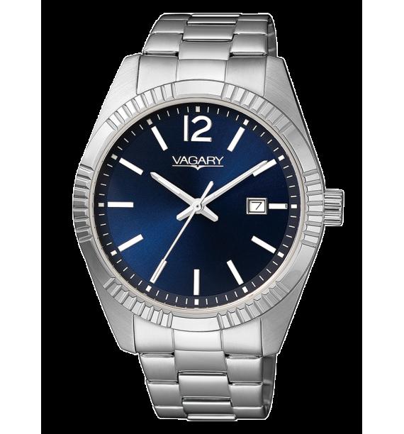 VAGARY Timeless - Orologio in acciaio fondo blu - Uomo
