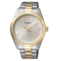 VAGARY Timeless - Orologio in acciaio bicolore placcato fondo silver - Uomo