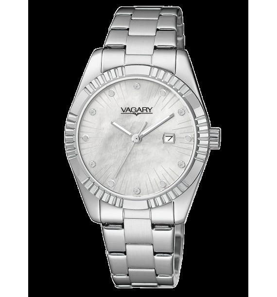 VAGARY Timeless - Orologio in acciaio fondo madreperla - Donna