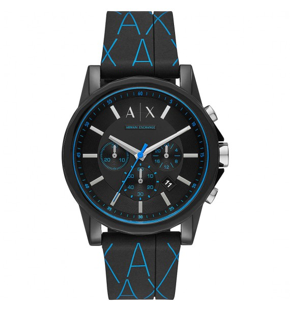 ARMANI Exchange - Orologio cronografo in silicone fondo nero - Outerbanks