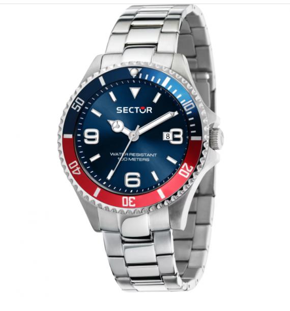 SECTOR - Orologio in acciaio fondo blu - 230