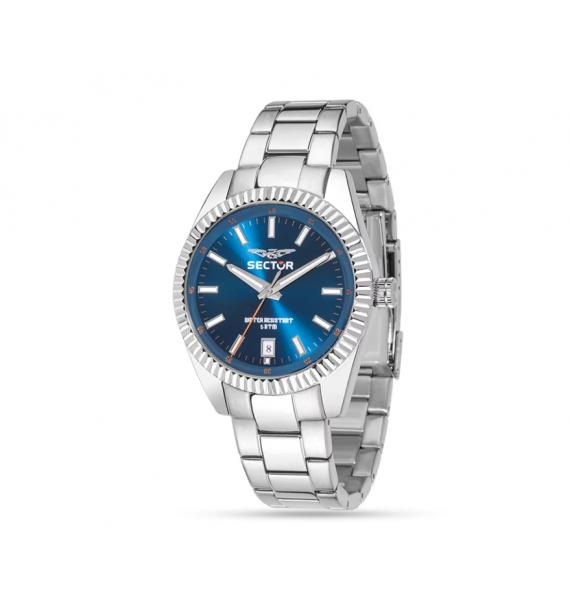 SECTOR - Orologio in acciaio fondo blu - 240