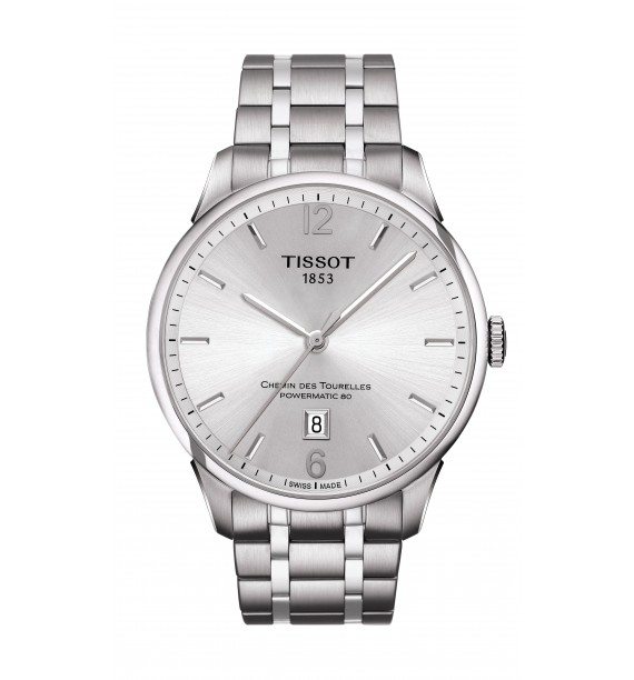 TISSOT - Orologio automatico in acciaio inox fondo silver - Chemin des Tourelles