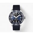 TISSOT - Orologio automatico in acciaio inox e tessuto fondo blu - Seastar 1000