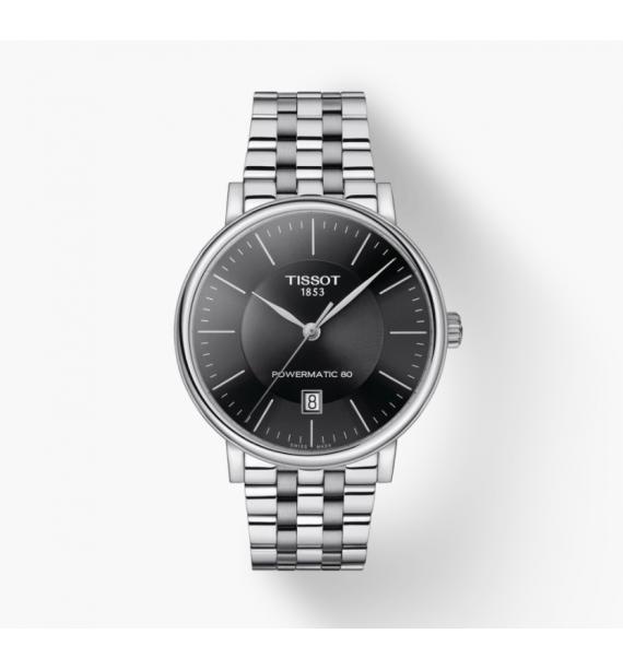 TISSOT - Orologio automatico in acciaio inox fondo nero - Carson Premium