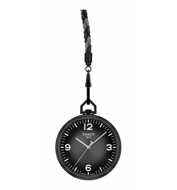TISSOT - Orologio da tasca in alluminio fondo nero - Lepine