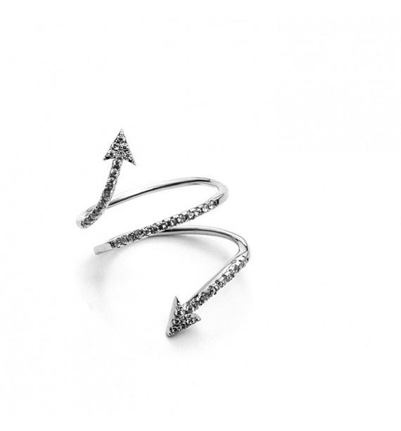 CESARE PACIOTTI 4US - Anello in argento con zirconi - Anna