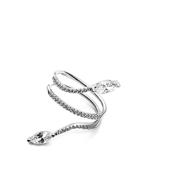CESARE PACIOTTI 4US - Anello in argento con zirconi - Alida