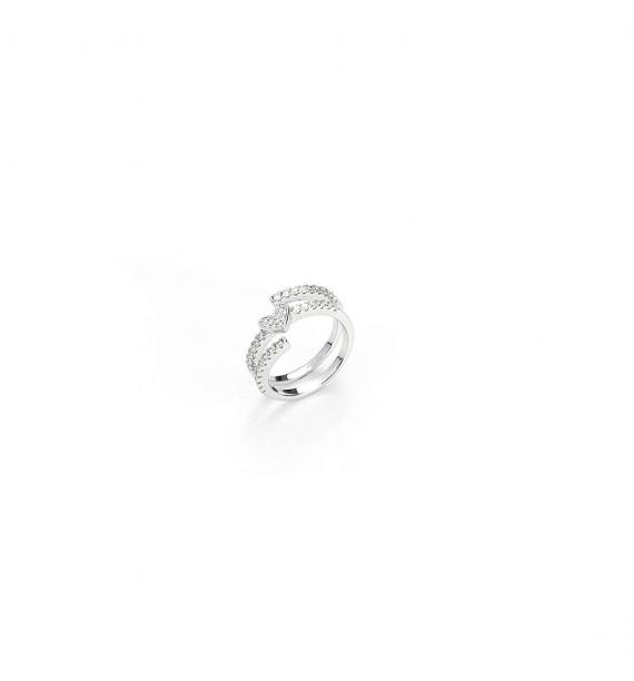 CESARE PACIOTTI 4US - Anello in argento con zirconi - Galaxy