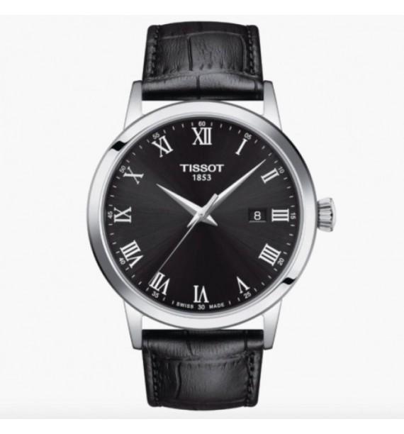 TISSOT - Orologio in acciaio inox e pelle fondo silver - Gent XL