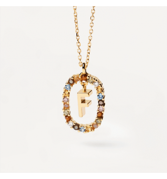 PD PAOLA-LETTER F NECKLACE GOLD