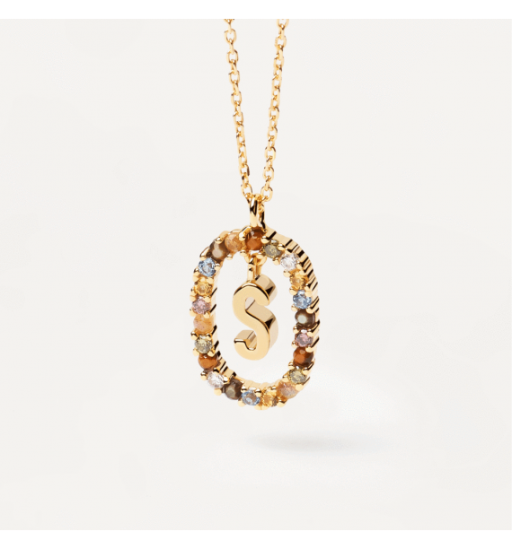 PD PAOLA-LETTER S NECKLACE GOLD