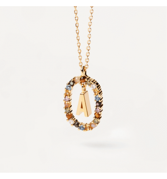 PD PAOLA-LETTER A NECKLACE GOLD